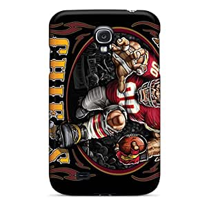 New Bpd606qjyJ Kansas City Chiefs Skin Case Cover Shatterproof Case For Galaxy S4