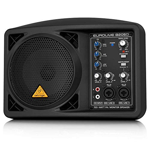 Behringer Eurolive B205D Sistema de altavoces de PA / monitor ultracompacto de 150 vatios (renovado)