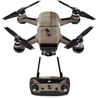 Skin for DJI Spark Mini Drone Combo - Wooden| MightySkins Protective, Durable, and Unique Vinyl Decal wrap cover | Easy To Apply, Remove, and Change Styles | Made in the USA