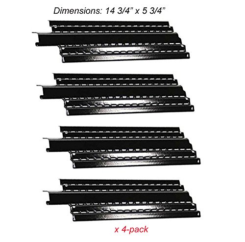 PH4481(4-pack) Porcelain Steel Heat Plate, Heat Shield Replacement for Char-Broil G457-0041-W1, Kenmore Gas Grill Models