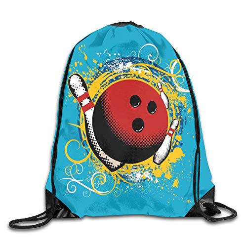 Lightweight Sport Fitness Traveling Bag Bowling Party Portable Drawstring Shoulder Bundle Backpack For Court/Beach/Home/Swimming -