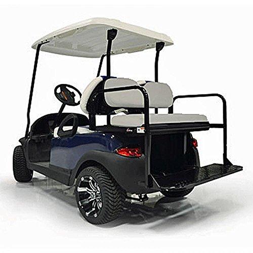 Cargo One Base 01 - Gtw Steel Rear Flip Seat For Yamaha Drive 2 Golf Cart - Gray
