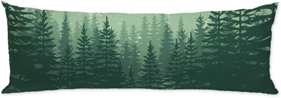 """GUGLILI Nature Forest Scenery Body Pillow Case Cover Machine Washable with Zipper Double Sides for Outdoor Adventure Collection 20""""X54"""""""