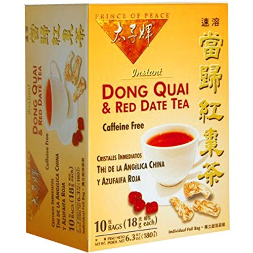 Prince of Peace Tea - Instant - Herbal - Dong Quai and Red Date - 10 Bags
