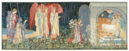 Tapestry, Extra Large, Wide - Elegant, Fine, French & Wall Hanging - The Holy Grail (The Vision), B-H39xW102 by Blessinglight USA