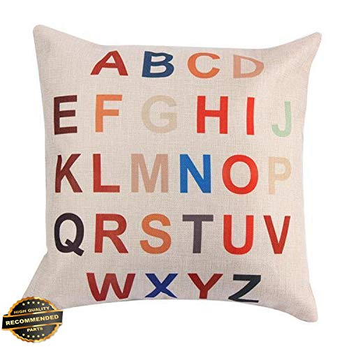 Kaputar Vintage Letter Sofa Waist Throw Pillow Case Cushion Cover Romantic Home Decor F_White+Blue | Style PLWCS-182012386 (Kohls Patio Cushions Outdoor)