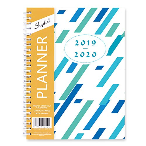 - Shiplies 2019-2020 Academic Planner, Weekly & Monthly Planner, July 2019 - June 2020, 12 Monthly Tabs, 5.8 x 8.3 Inches