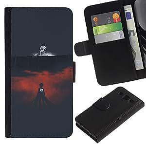 LECELL--Cuero de la tarjeta la carpeta del tirón Smartphone Slots Protección Holder For Samsung Galaxy S3 III I9300 -- Muerte Arena --