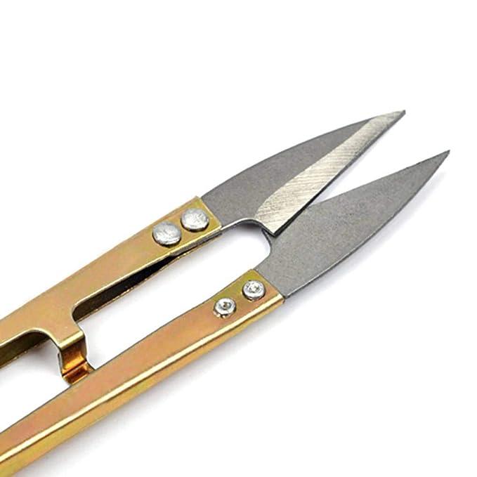 NAYUKY Tijeras para Cortar Hilos Forma de U Tijera Craft Bordado Costura Cualquier cortadora de artesanía