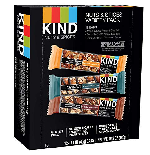 Kind Bars, Nuts and Spices Variety Pack, Gluten Free, 1.4oz