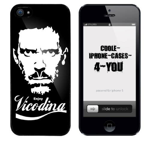 Iphone 5 Case Enjoy Vicodina Rahmen schwarz