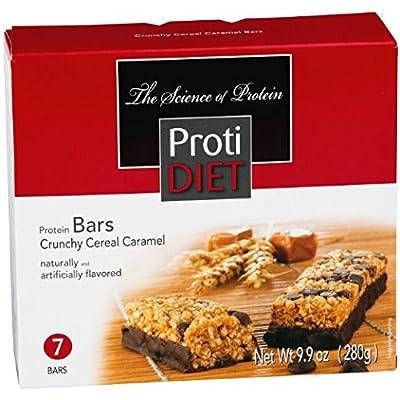 ProtiDiet Crunchy Cereal Caramel Bar - 9.9 oz - 7 Bars