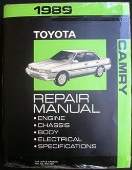1989 toyota camry repair manual toyota amazon com books rh amazon com manual de reparacion toyota camry 1989 1989 toyota camry manual transmission