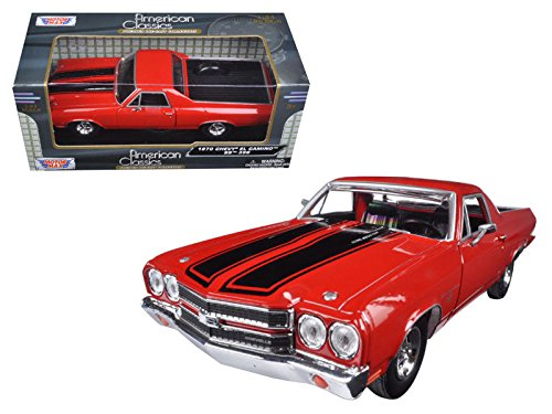 Motormax 79347RD 1970 Chevrolet El Camino SS 396 Red 1/24 Diecast Model Car ()