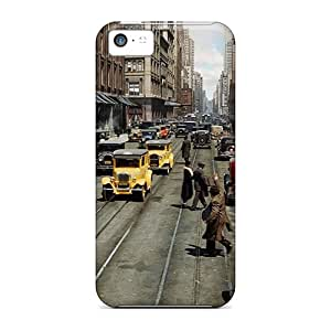 New Tpu Hard Case Premium Iphone 5c Skin Case Cover(old Bustling Chicago)