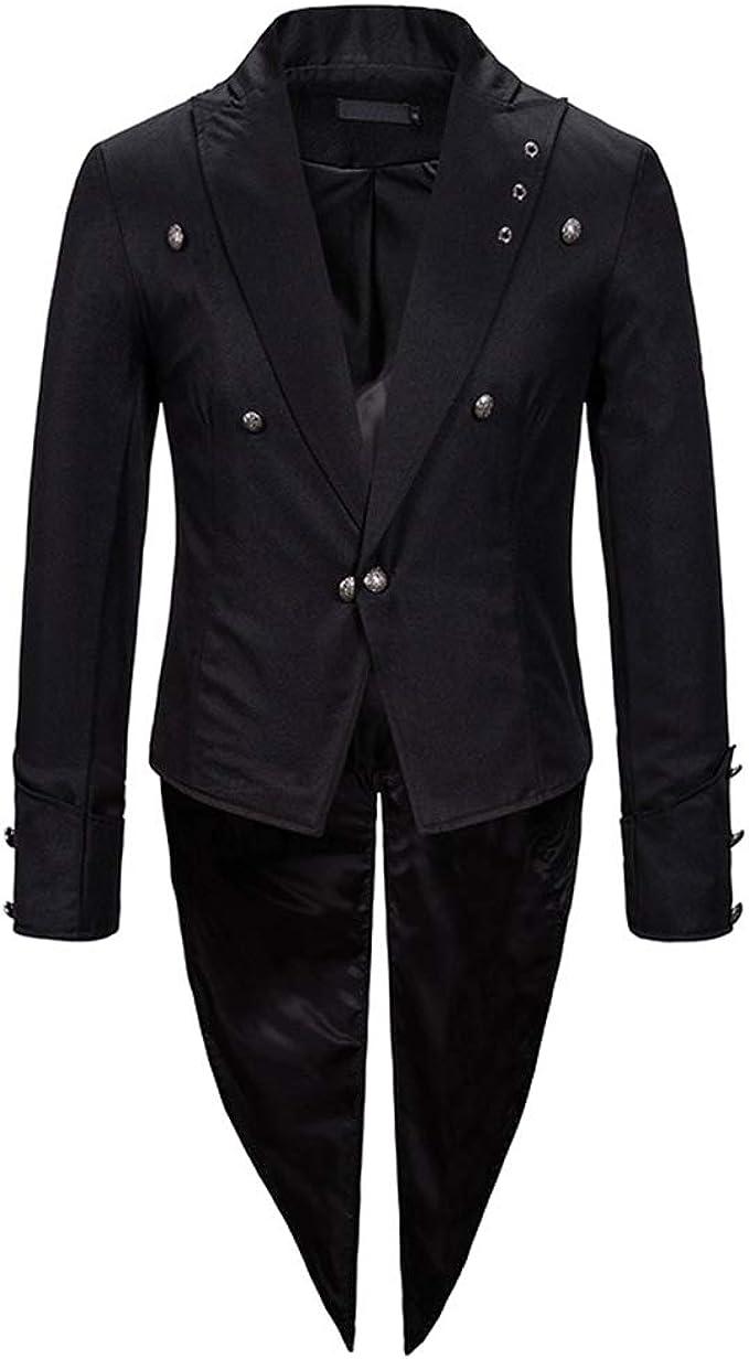 Amazon.com: Crubelon Mens Steampunk Vintage Tailcoat Jacket ...
