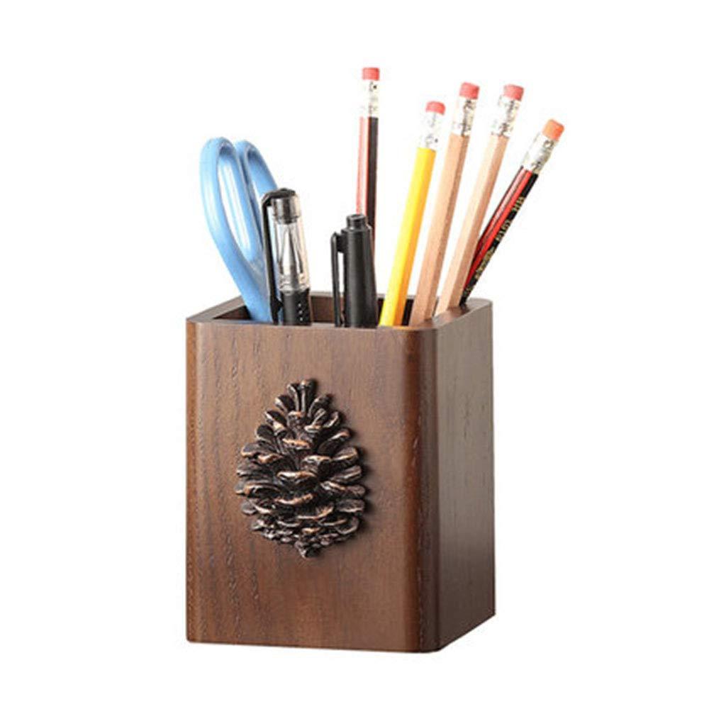 Kreative Mode, niedlich, Stifthalter, Massivholz, Vintage Holz, Make-up-Pinsel, Aufbewahrungsbox für den Schreibtisch, Stifthalter, niedlich (Design   Atmosphere)