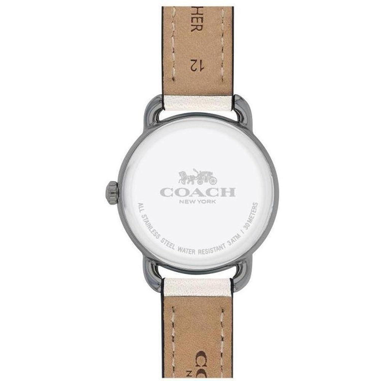 a0eb963a513d Coach 19998 Womans delancy B001UJPYT2 reloj correa de cuero blanco ...