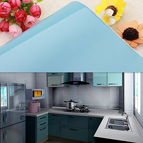 YIZUNNU Self Adhesive PVC Flash Point Sky Blue Kitchen Contact Paper,24x98.43 Inches