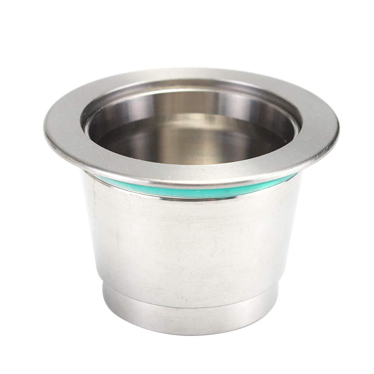 Super Fine Metal Refillable Capsule Pod For illy Coffee Nespresso Machine - Tools, Industrial & Scientific Hardware & Accessories - 1 x Steel capsule