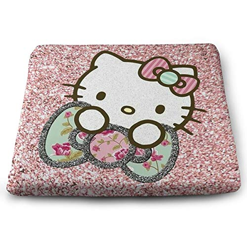 Wshha Perfect Outdoor/Indoor Bling Hello Kitty Square Cushion-Home Fashions 13.7