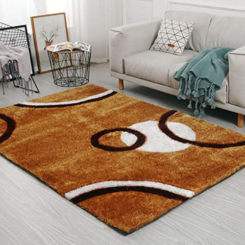 Korean Silk Thicker Bedroom Carpet Area Rugs Parlor Coffee Table Soft Fluffy 3D Modern Decor Carpet