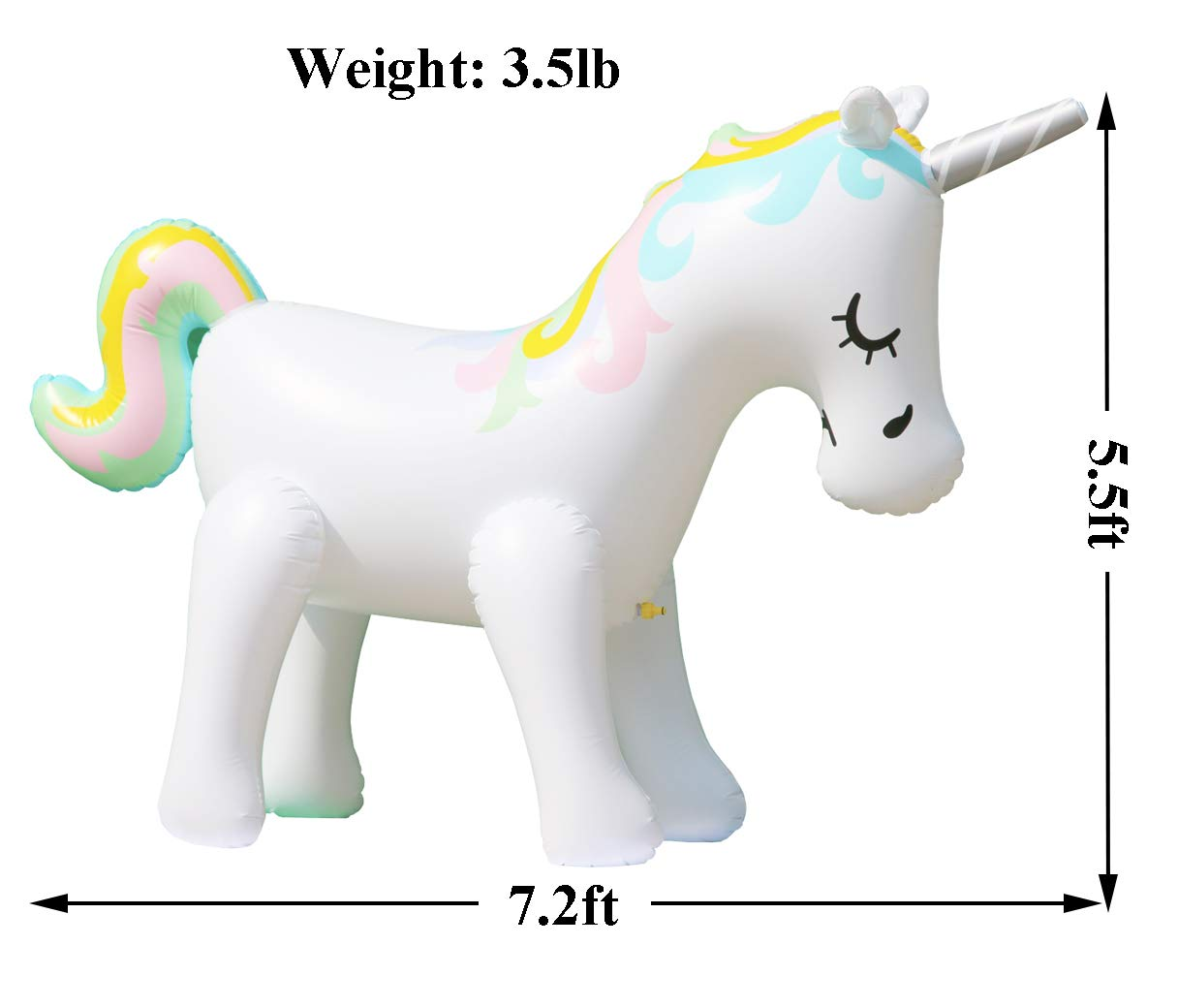 LANGXUN Ginormous Inflatable Unicorn Yard Sprinkler Toy for Kids, Perfect for Unicorn Party Supplies & Outdoor Summer Sprays Water Toys for Toddlers 4