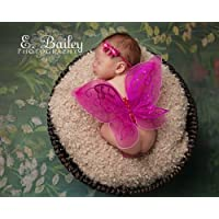 Glitter Fairy Butterfly Wings, Newborn, Baby, Photography prop CHOOSE Colors