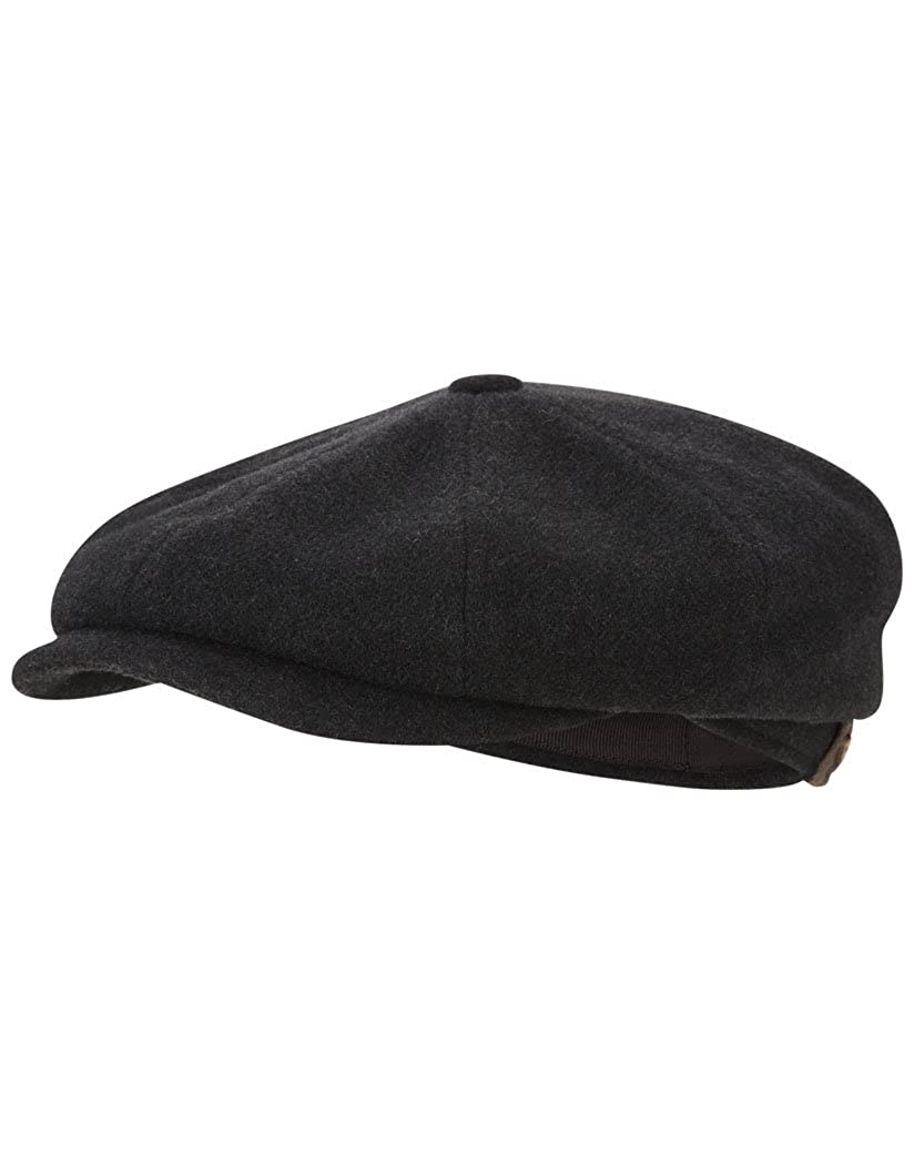 0ab2490d3f976 Stetson Men s Hatteras Wool Cashmere Flat Cap with Earflaps   Grey - 7 3 4   Amazon.co.uk  Clothing