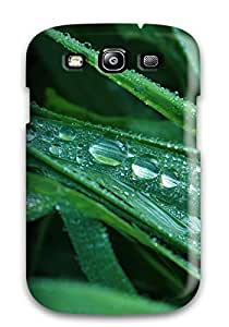 Top Quality Rugged Dew Drops On Grass Case Cover For Galaxy S3