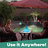 """GAME 81321-BB GalaxyGLO Solar Powered Pyramid 10"""" Backyard Light, inch, Color Changing"""