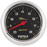 "Autometer 19300 Black Face Pro-Cycle 3-3/8"" Tachometer 8000 RPM for Harley (19300.)"