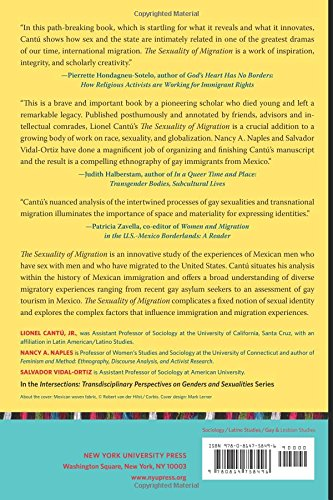 Amazon the sexuality of migration border crossings and mexican amazon the sexuality of migration border crossings and mexican immigrant men intersections 9780814758496 lionel cantu nancy a naples fandeluxe Gallery