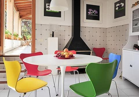 saarinen + sedie jacobsen Mesa Tulip diam. cm. 100 Laminado ...