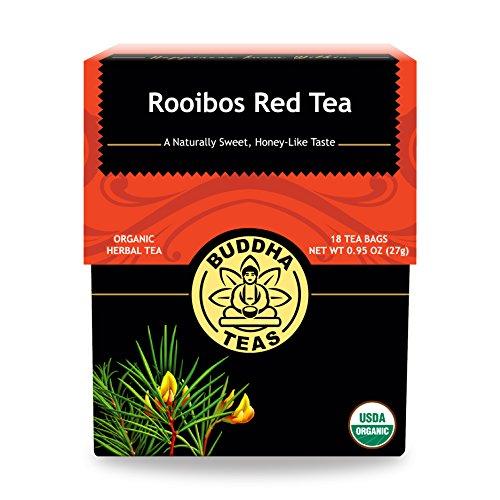 Organic Rooibos Tea - Kosher, Caffeine-Free, GMO-Free - 18 Bleach-Free Tea Bags