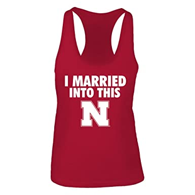 2ab80fc04 FanPrint Official Sports Apparel Women's Tank Top Nebraska Cornhuskers  Married Into This, Size XS,