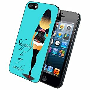 linJUN FENGShopping Is My Cardio iPhone 5/5s Case Back Cover
