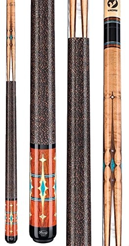 2015 Viking Cue A621 Cocobolo Turquoise White Pool Stick Quick Release Joint Billiards (18 - 21 Ounces in (Cocobolo Pool Cue Stick)