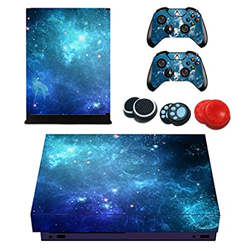 easyCool Vinyl Skin Sticker Decal Cover for Xbox ONE X Console with Two Free Wireless Controller Decals (NOT Xbox One Elite/Xbox One S/Xbox One) – Cluster