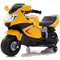Toy House Kid's Mini Ninja Superbike Rechargeable Battery Operated Ride-on - Yellow (2 - 3.5 Years)
