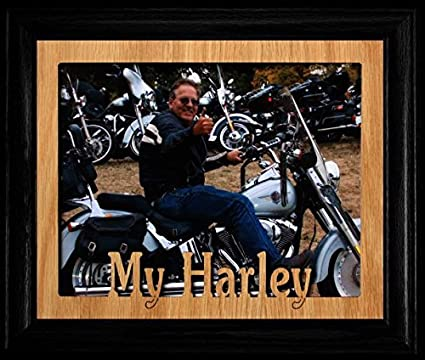 Amazon 8x10 My Harley Landscape Picture Frame Black Frame