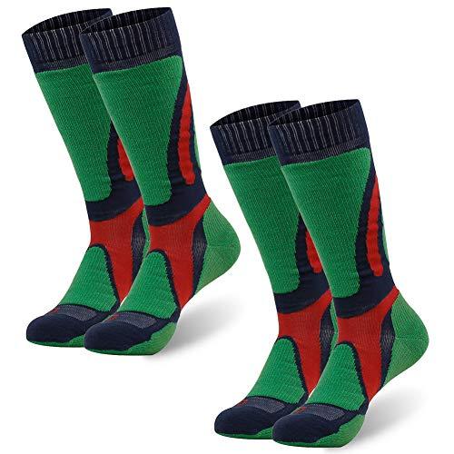 Thermal Merino Wool Socks, ZEALWOOD Warm Winter Winter Trapping Insulated Heated Socks Pack Skiing Socks Eco Friendly Heavy Weight Recyled Cotton Boot Socks Snow Hiking Socks