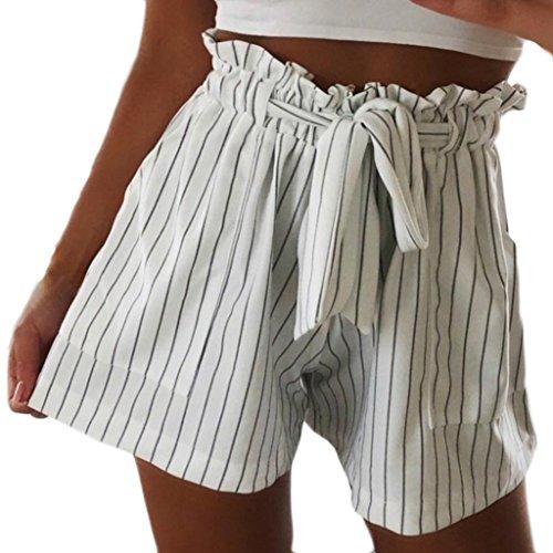 de Haute Nouveau de Courte t Taille Short Shorts S Pantalon Femmes Casual M Ray Gris Plage Pantalons Jambe Mamum Large OfqIgS