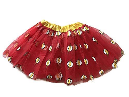 [Rush Dance Superhero Halloween Girls DressUp Princess Fairy Costume Recital Tutu (Red & Yellow] (Yellow Tank Dress Costumes)