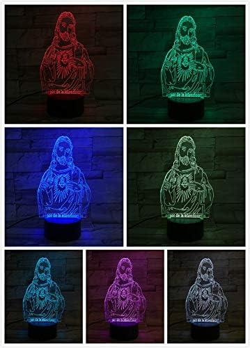 Luz de la Noche jesús Cristo Figura Religiosa Creyente decoración lámpara mamá Madre Regalo Biblia Cruz Mesa lámpara Dormitorio