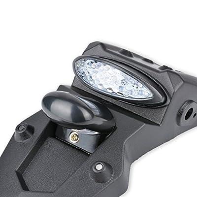 KATUR 12V LED Motorcycle Fender Rear Tail Stop Light Reflector Universal for MX Motocross Sport Pit Dirt Bike (White Shell): Automotive