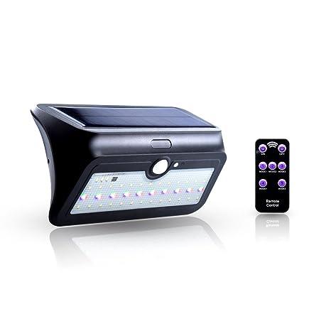 Bonlux 5-Modos Luz Exterior Solar LED Foco Impermeable Lámpara de Pared con Sensor de