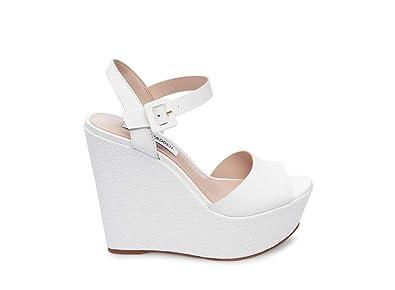 094b9503cc7 Amazon.com  Steve Madden Women s Citrus Wedge Sandal White Leather 8 ...