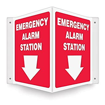 Amazon.com: Estación de alarma de emergencia 12 x 9 .100 ...