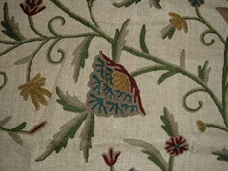 Amazon.com: Cojín bordado tela árbol de la vida del Yute ...